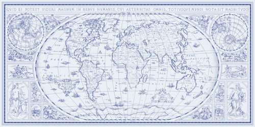 Pensamos em colocar um mapa moderninho e cheio de conexões, mas este é muito mais classe