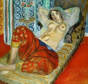 """""""Odalisca com calça vermelha"""", de Henri Matisse"""
